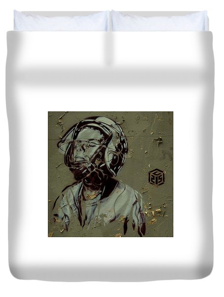 Duvet Cover featuring the painting Street Art by Sheila Mcdonald