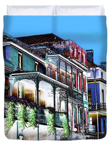 Street In New Orleans Duvet Cover