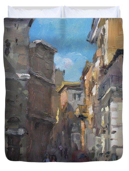 Street In Rome Duvet Cover