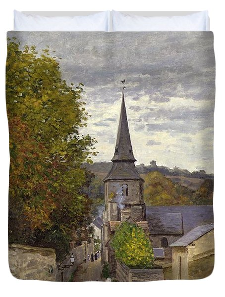 Street In Sainte Adresse Duvet Cover by Claude Monet