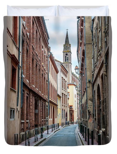 Duvet Cover featuring the photograph Street In Toulouse by Elena Elisseeva