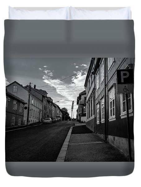 Street In Toyen Duvet Cover