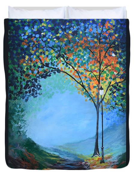 Street Lamp Duvet Cover by Gary Smith