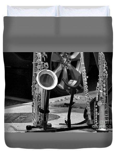 Duvet Cover featuring the photograph Street Music by John S