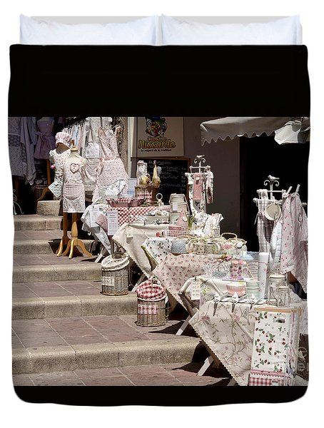 Street Of Nice Duvet Cover by Leo Symon