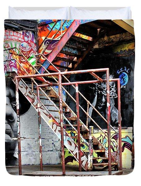 Street Portraiture Duvet Cover