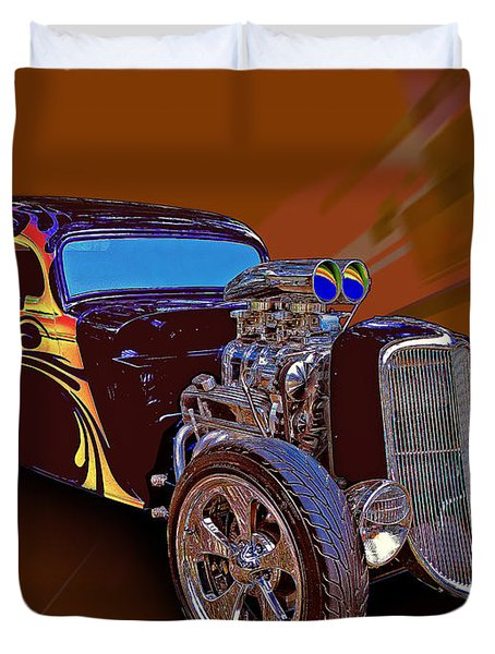 Street Rod What Is It Duvet Cover