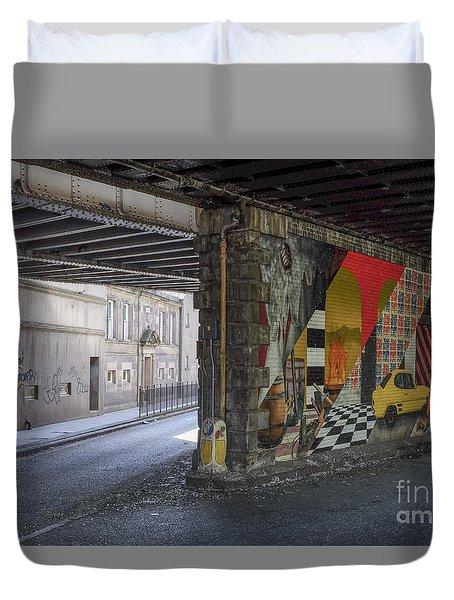 Street Scene - Edinburgh Duvet Cover
