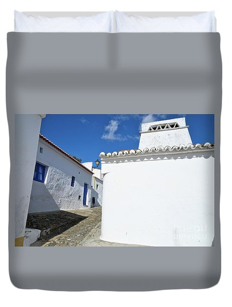 Streets Of A Medieval Castle. Alentejo Duvet Cover