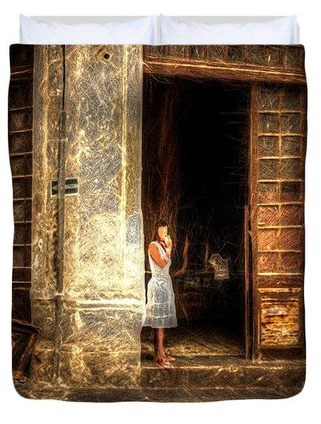 Streets Of Cuba Duvet Cover