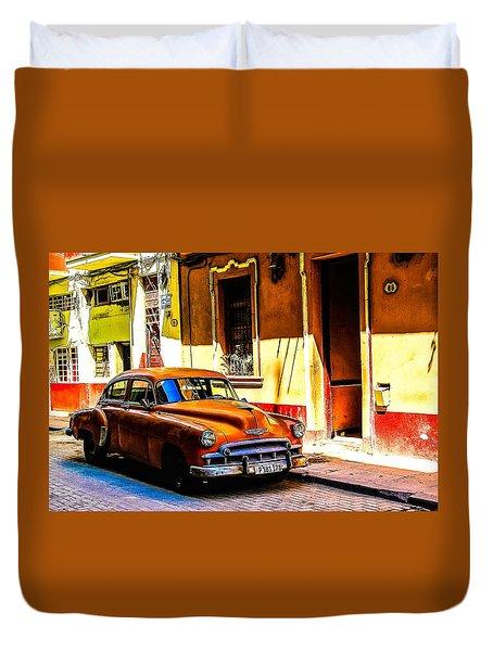 Streets Of Havana Duvet Cover