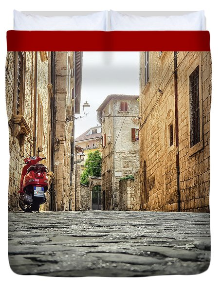 Streets Of Italy Duvet Cover