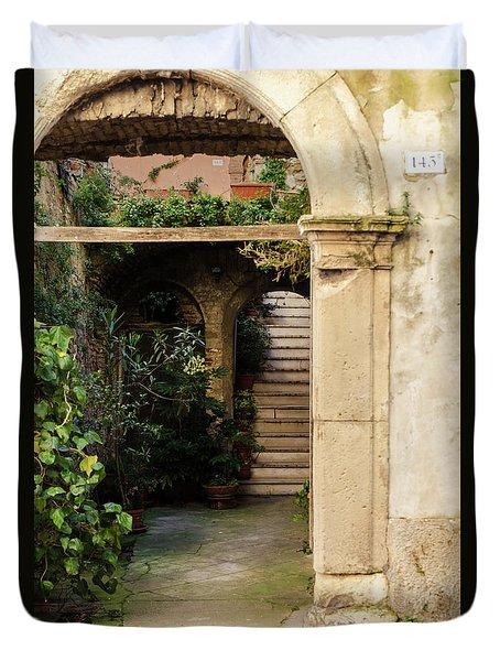 Streets Of Italy - Guardiagrele 15 Duvet Cover by Andrea Mazzocchetti