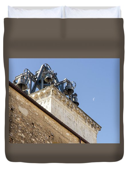 Streets Of Italy - Guardiagrele Cathedral 5 Duvet Cover by Andrea Mazzocchetti