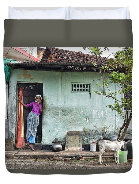 Streets Of Kochi Duvet Cover