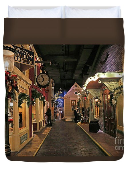 Streets Of Old Milwaukee Duvet Cover