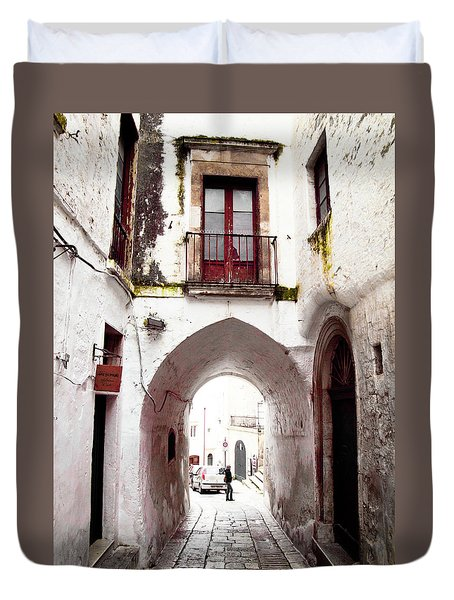 Streets Of Ostuni Duvet Cover