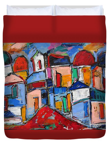 Streets Of Rome Duvet Cover