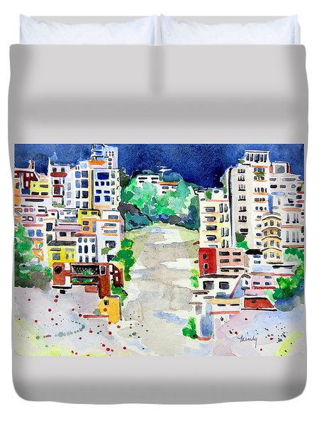 Streets Of San Francsico Duvet Cover