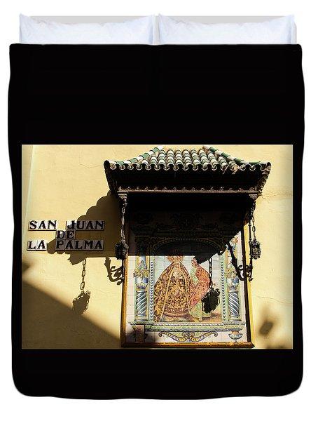 Streets Of Seville - San Juan De La Palma Duvet Cover by Andrea Mazzocchetti