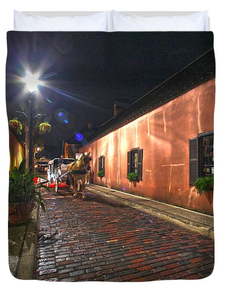 Streets Of St Augustine Duvet Cover
