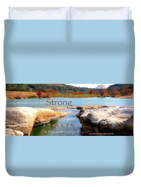 Strength Multiplied Duvet Cover by David Norman