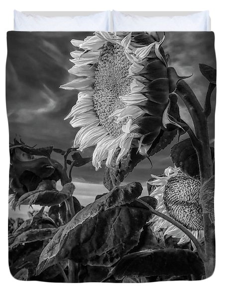 Strength Of A Sunflower Duvet Cover
