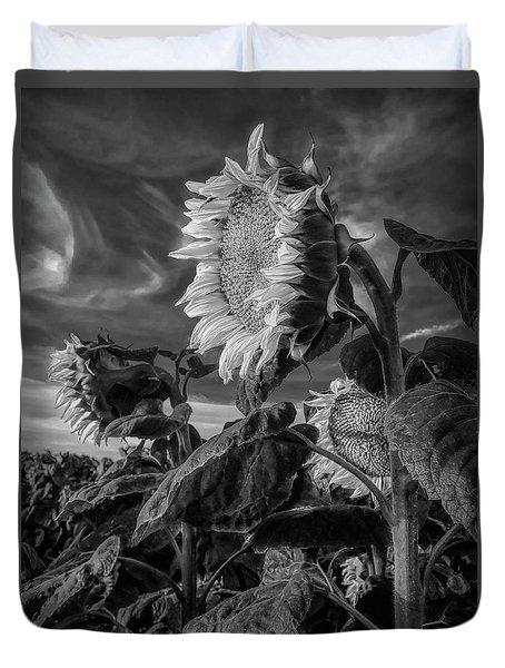 Strength Of A Sunflower Duvet Cover