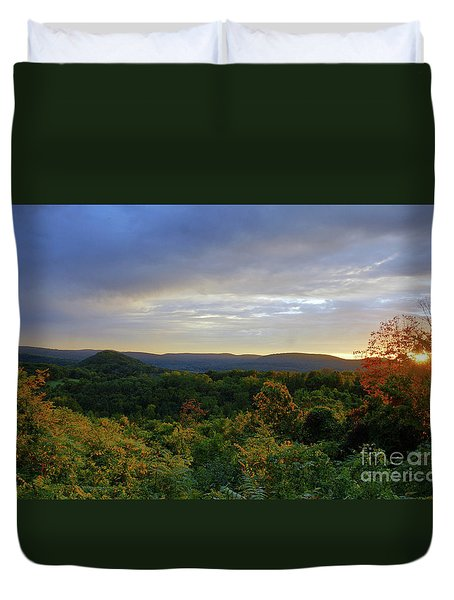 Strength Of The Day Duvet Cover