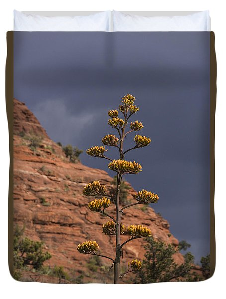 Stretching Into A Threatening Sky Duvet Cover by Laura Pratt