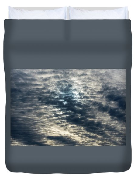 Striated Clouds Duvet Cover