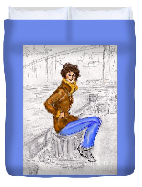 Strike A Pose Duvet Cover