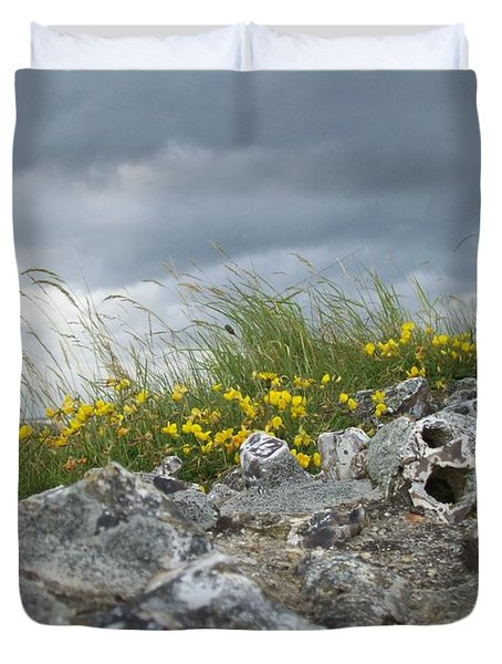 Duvet Cover featuring the photograph Striking Ruins by Mary Mikawoz