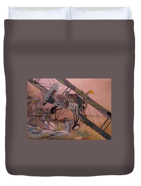 String Bag. Duvet Cover by Ray Agius