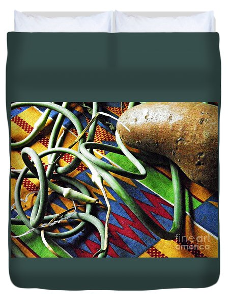 String Beans And Yam Duvet Cover by Sarah Loft