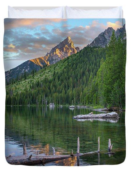 String Lake Duvet Cover by Tim Fitzharris