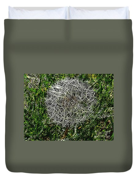 String Theory Dandelion Duvet Cover by Craig Walters