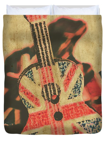 Stringed In Great Britain Duvet Cover