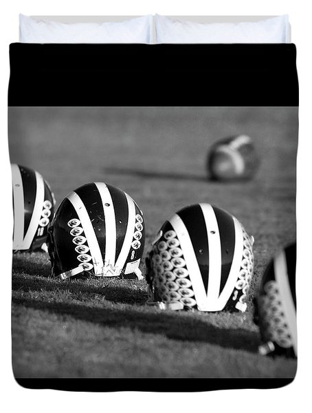 Striped Helmets With Football Duvet Cover