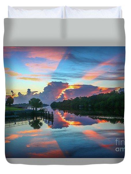 Striped Sunrise Duvet Cover