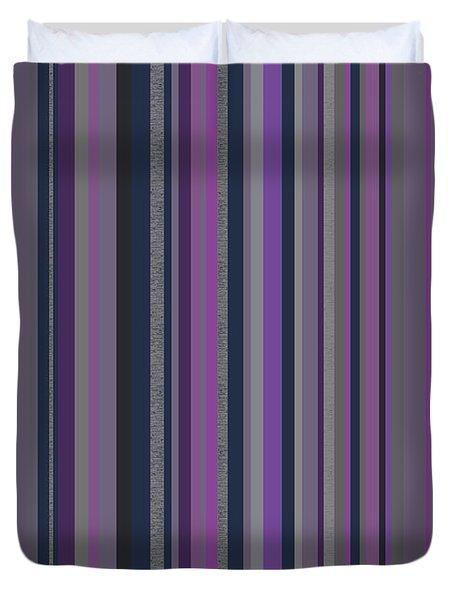 Stripes In Grayed Lavender Duvet Cover