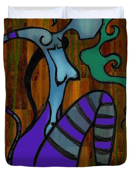 Stripes Duvet Cover by Kelly Jade King