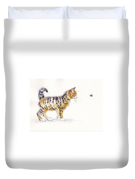 Stripey Creatures Duvet Cover