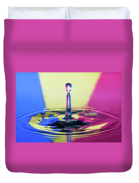 Stripped Water Drop Duvet Cover