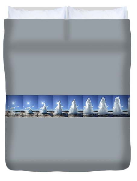 Strokkur Geyser Erupting Duvet Cover