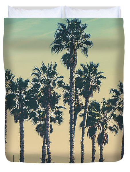 Stroll Down Venice Beach Duvet Cover