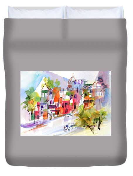 Stroll In Montreal Duvet Cover by Betty M M Wong