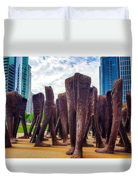Stroll In The Park. Duvet Cover