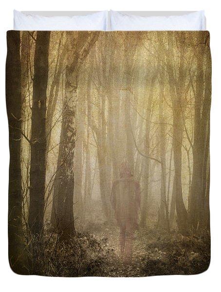 Stroll Through My Mind Duvet Cover by Meirion Matthias