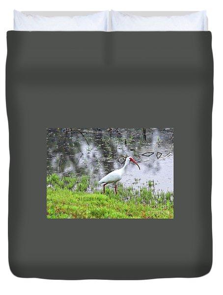 Strolling Ibis Duvet Cover by Carol Groenen